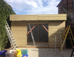 Large Garden Shed under construction